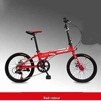 20 pulgadas 7 velocidades Bicicleta plegable,Ultra ligh Marco de aluminio Aleación Engranajes de shimano