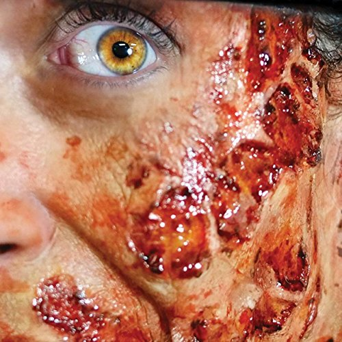Tinsley Transfers BURNED FLESH - Film Quality Special FX Makeup Wound - Apply With Water. ()