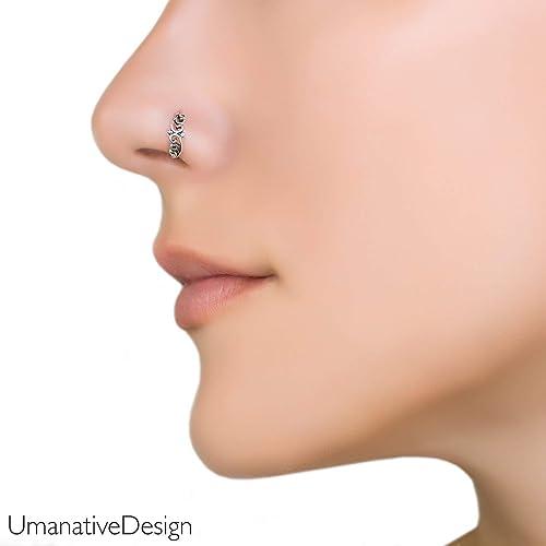 Organic Nose PiercingUK Body Jewellery SILVER SEPTUM RING