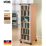 "VCM CD/DVD-Turm ""Valenza"" drehbar für 300 CDs Buche"