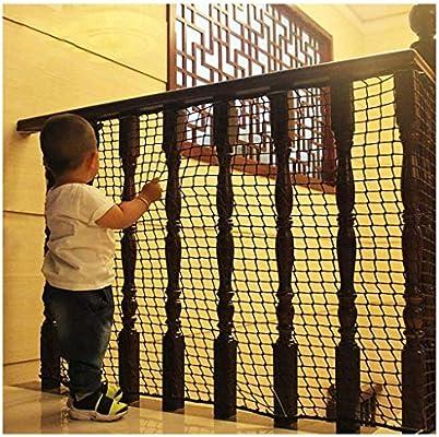 Red de Seguridad Malla de Seguiridad para Protección a Niños y Bebés, para Barandillas de Escaleras Colocar en Balcones Terrazas Puertas Redes de Protectora, Negro 8cm/6mm: Amazon.es: Hogar