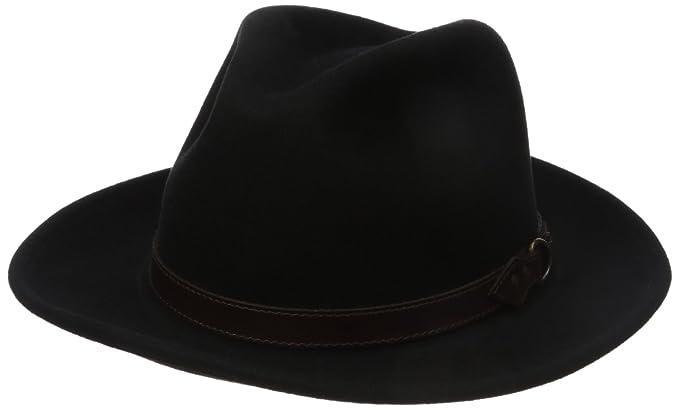 ede3806ae86dec Country Gentleman Men's Dunmore Classic Wool Fedora Hat, Black, ...