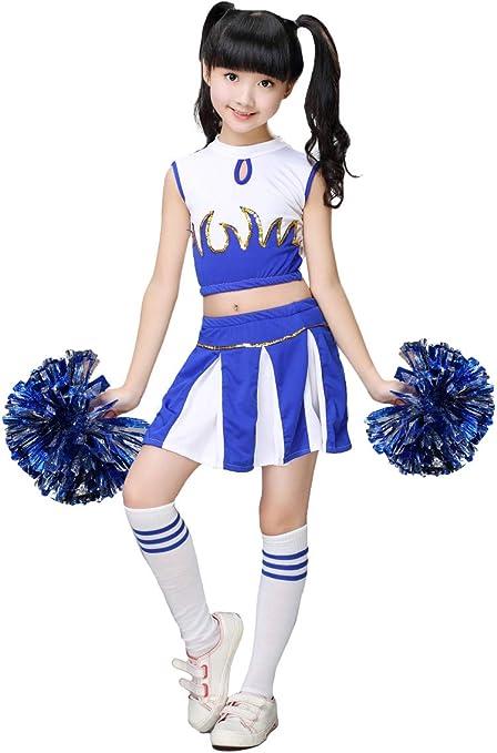 LOLANTA Disfraz de Cheerleader Animadora para niñas Colegiala ...