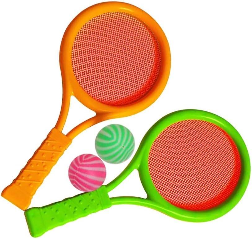 LIOOBO Raquetas de bádminton de Tenis Juego de Pelotas Deportes para niños Juguetes educativos para Padres e Hijos para niños Niñas