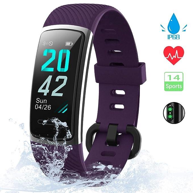 Wasserdicht Pulsmesser Smart Uhr Schrittzähler Handgelenk