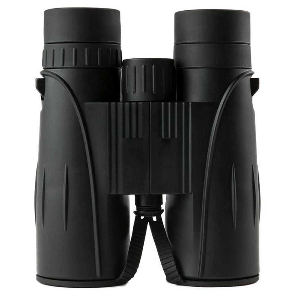 JIANFCR バードウォッチングのためのSpectator 8X42コンパクト双眼鏡。軽量でコンパクトで、数時間に渡って明るくクリアなバードウォッチング。屋外スポーツゲームやコンサート用 (色 : ブラック) B07F8H59P4