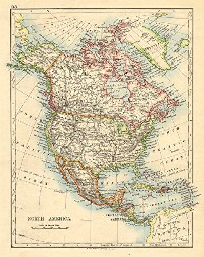 Amazon.com: NORTH AMERICA POLITICAL. Greenland \