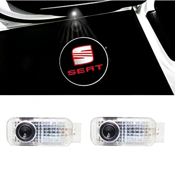NMXPW 2 Pieces Car Door Logo Projector Ghost Shadow Light Welcome Lamp Projection Lights for Mini