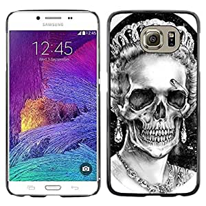 "For Samsung Galaxy S6 Case , Dios reina Corona Cráneo Muerte Inglaterra"" - Diseño Patrón Teléfono Caso Cubierta Case Bumper Duro Protección Case Cover Funda"
