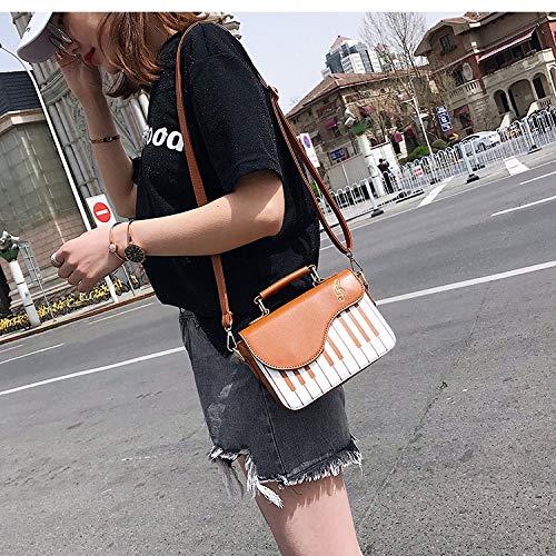 signore elaborazione della borsa Crossbody Piano Casual della di modello cuoio Pnizun sacchetto donne modo Rosa delle Marrone spalla Totes dell'unità delle borsa Messenger di Carino Bag di Flap 1q0C16wPx