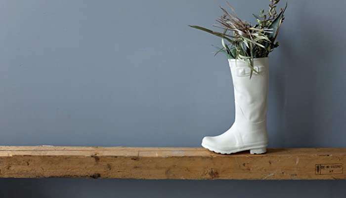 Amazon Com Modern White Ceramic Rain Boot Vase For Flowers Funny