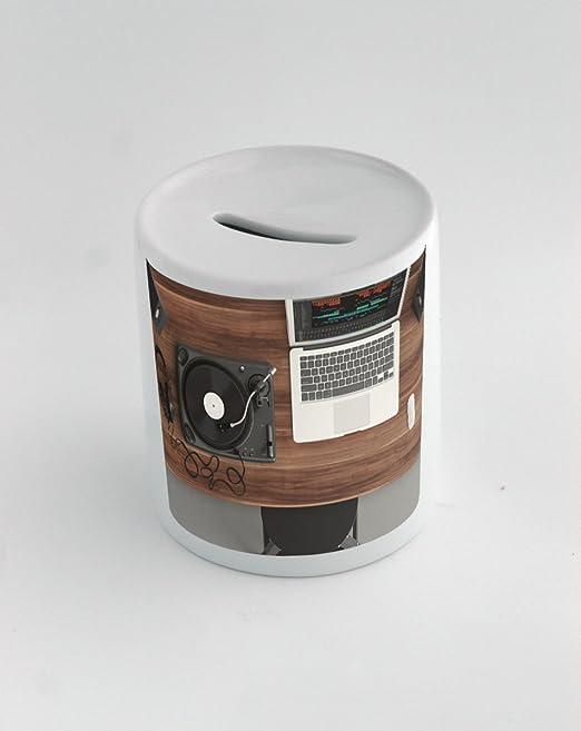 Caja de dinero con tocadiscos, vista superior, Audio, equipo ...