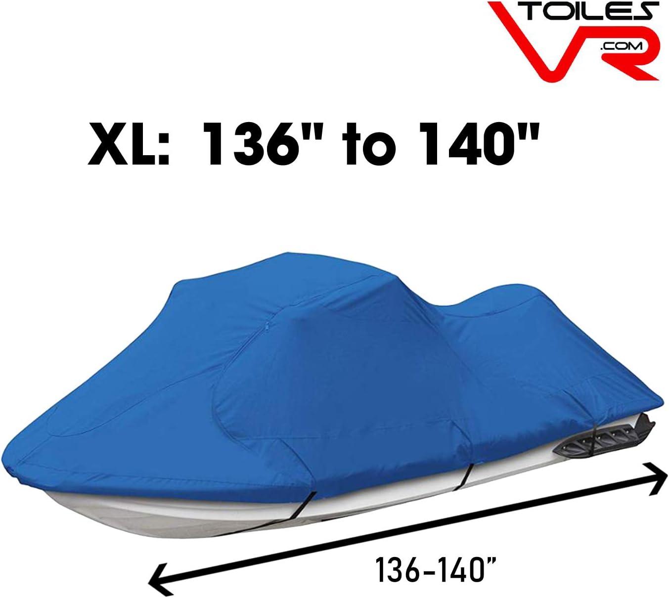 Watercraft Cover with Waterproof PU Coating and Elasticated Hem Corners Jet Ski Cover