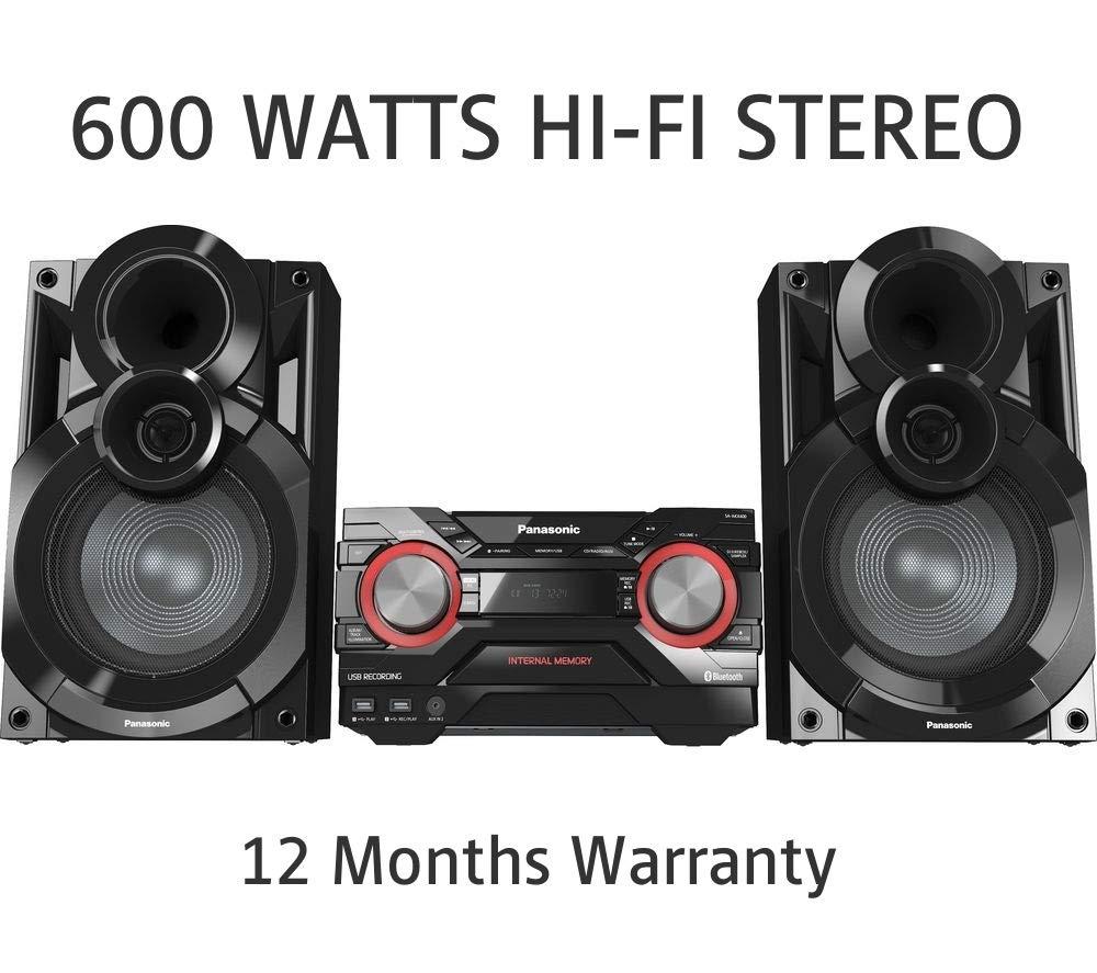 Panasonic SC-AKX400EBK 600W HiFi Built In Wireless Streaming 2GB SC-AKX400 Hi-Fi