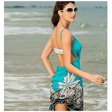 704c6c1f2f PAPWOO Open-Back Sarong Chiffon Sarongs for Women Sexy Wrap Beach ...