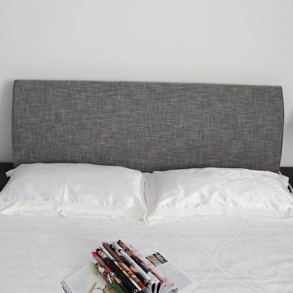 VERCART Wedge Pillow Bed Wedge Pillow Sofa Rückenlehne Kopfkissen, Keilkissen,Rückenkissen, Fernsehkissen, Ergokissen Weich Lesekissen Stützkissen Bettkissen Grau 200x50x10cm
