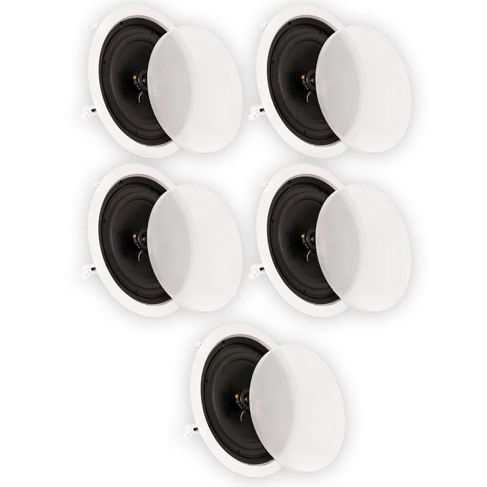 Theater Solutions CS8C In Ceiling 8'' Speakers Surround Sound Home Theater 5 Speaker Set CS8C-5S by Theater Solutions