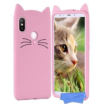 HopMore Gato Funda para Xiaomi Mi A2 Lite Silicona Motivo 3D Divertidas Gato TPU Gel Kawaii Carcasa Xiaomi A2 Lite Ultrafina Slim Case Antigolpes Caso ...