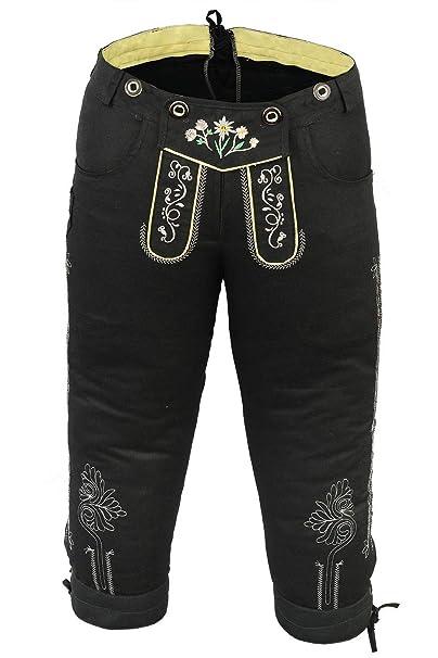 Pantalón corto para ciclismo para mujer pantalones vaqueros trajes con  tirantes colour negro  Amazon.es  Ropa y accesorios a2f72dcdfced