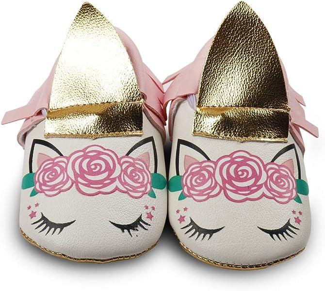 f3d9738003 CN Newborn Girl Unicorn Shoes Anti-Slip Infant Toddler Mary Jane ...
