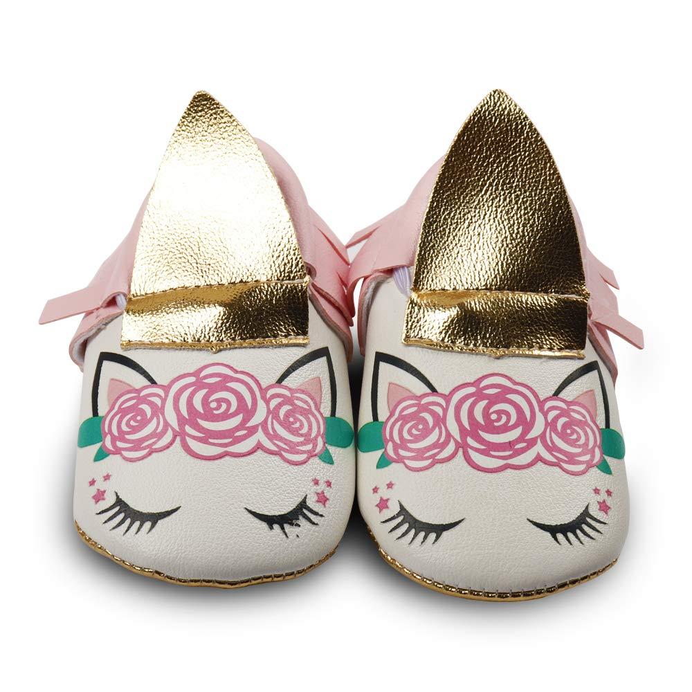 Newborn Girl Princess Shoes Anti-Slip Infant Toddler Mary Jane Shoes Premium Soft Sole Prewalker Shoes CN CXJSHOES-3