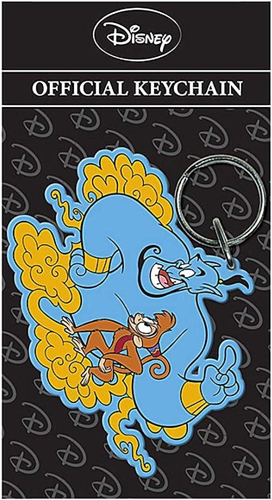 Pritties Accessories Genuine Disney Aladdin Genie and Abu Rubber Keyring Key Fob