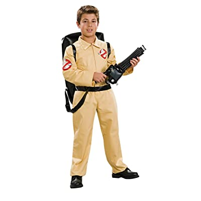 Ghostbuster Deluxe Child's Costume with Blow Up Proton Pack, Medium: Toys & Games