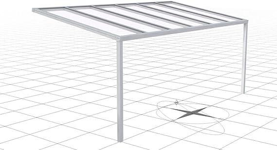 Cubierta de aluminio para terraza, con vidrio laminado de seguridad de 8 mm.: Amazon.es: Jardín