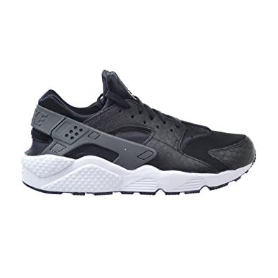 NIKE Air Huarache Run PRM Men's Shoes Black/Dark Grey/White 704830-001