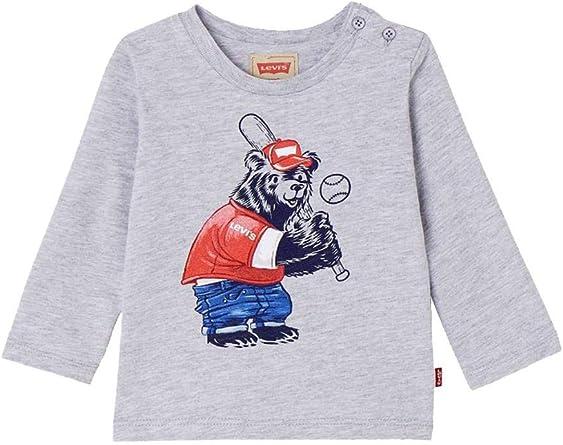 Camiseta Levis LS Teddy Gris: Amazon.es: Ropa