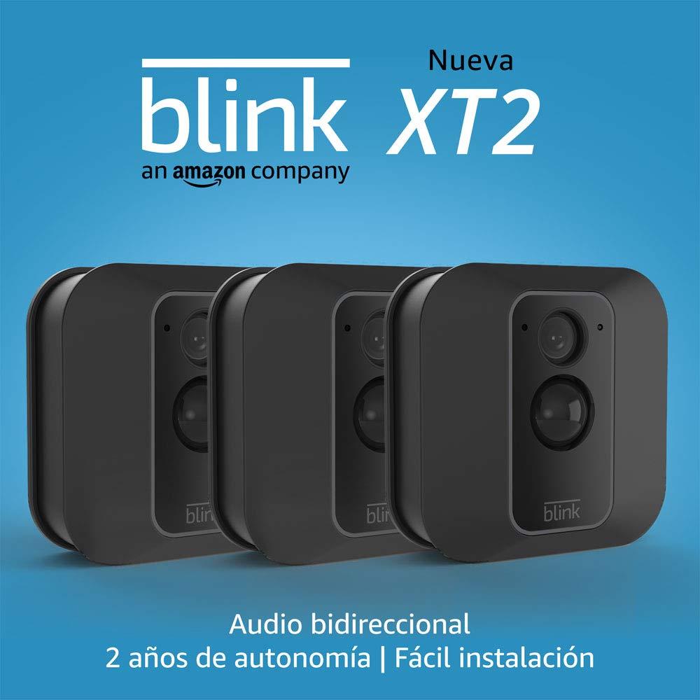 audio bidireccional 3 c/ámaras Nueva c/ámara de seguridad inteligente para exteriores e interiores con almacenamiento en el cloud incluido 2 a/ños de autonom/ía Blink XT2