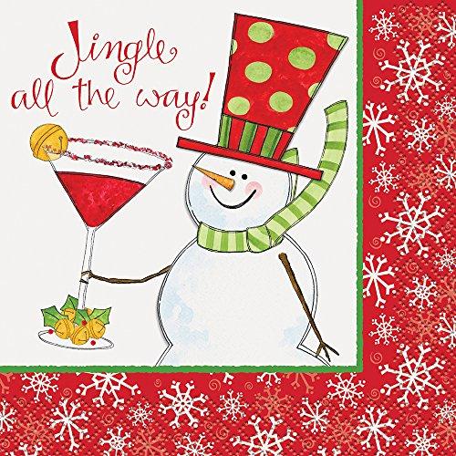 Jingle Christmas Cocktail Napkins 16ct