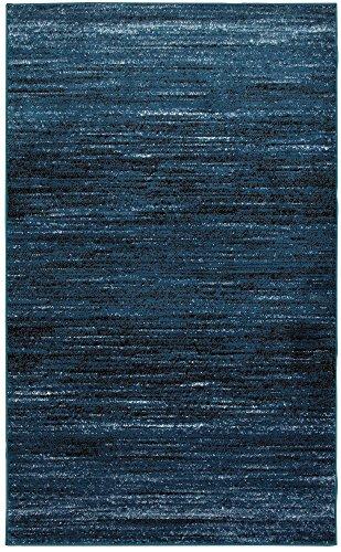 Blue Black Rectangle Rug - LR Resources MATRI81197SBB5272 Matrix LR81197-SBB5272 S.Blue/Black Rectangle 5 x 7 ft 2 in Indoor Area Rug, 5'2