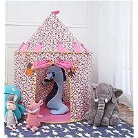 Loisleila Cotton Princess Castle Tent Kids Playhouse Play Tent for Girl & Boys Indoor (Pink)