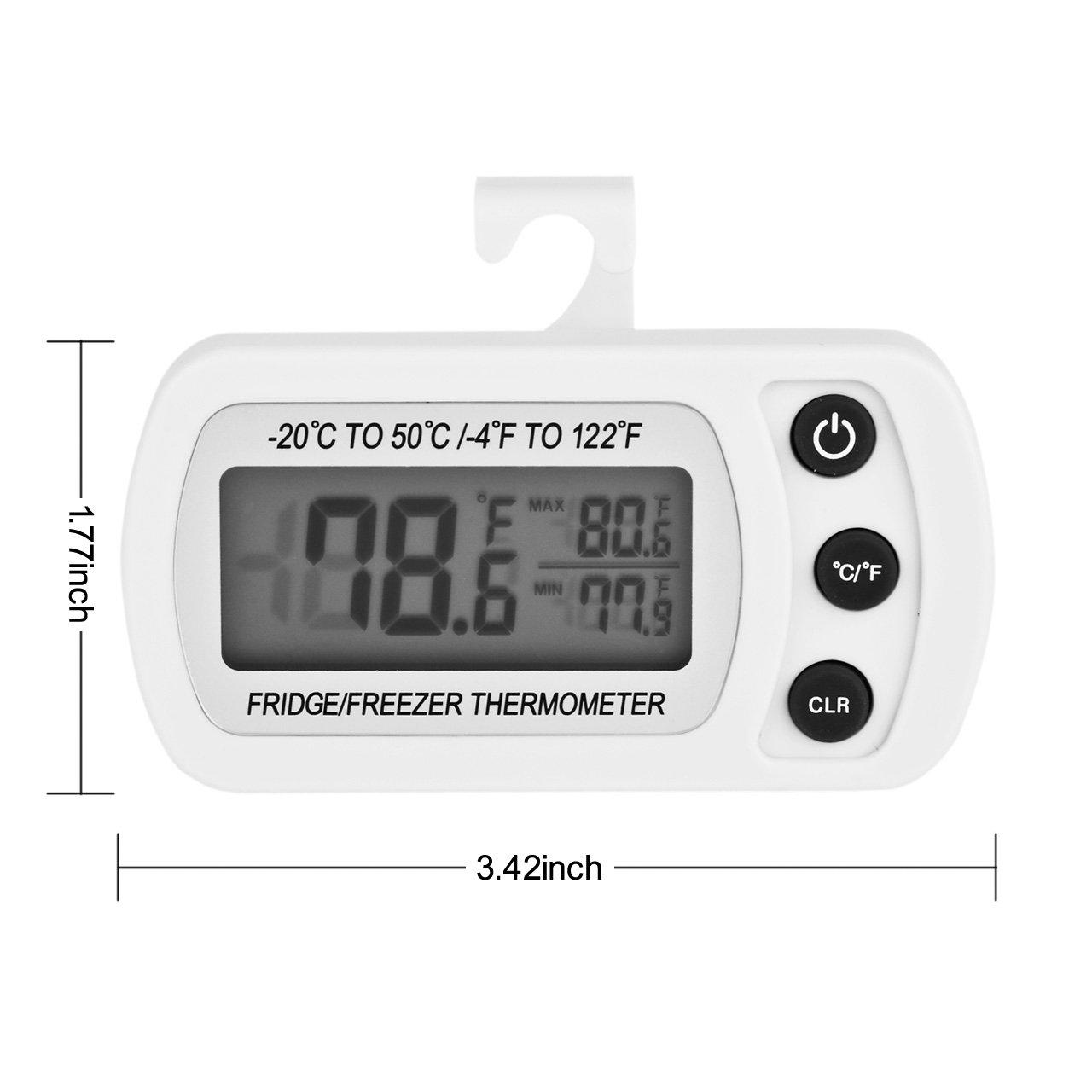 Compra Yiyu Termómetro Digital Impermeable para Refrigerador ...