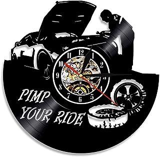 GuoEY Versione Silenziosa Luminosa Del Materiale Acrilico Dell'orologio Da Parete Dell'automobile Del Vinile