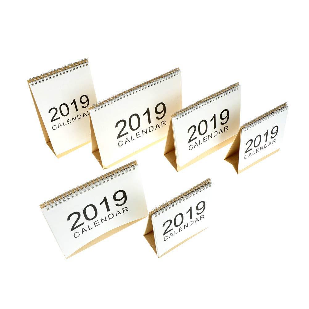 2019 Standing Office Desk Calendars Daily Planners Book 2018.9-2019.12 Desk Calendars