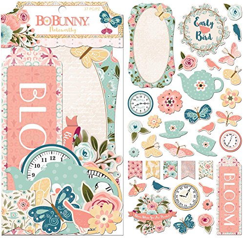 - Bo Bunny 7310078 Noteworthy Stickers, Multi