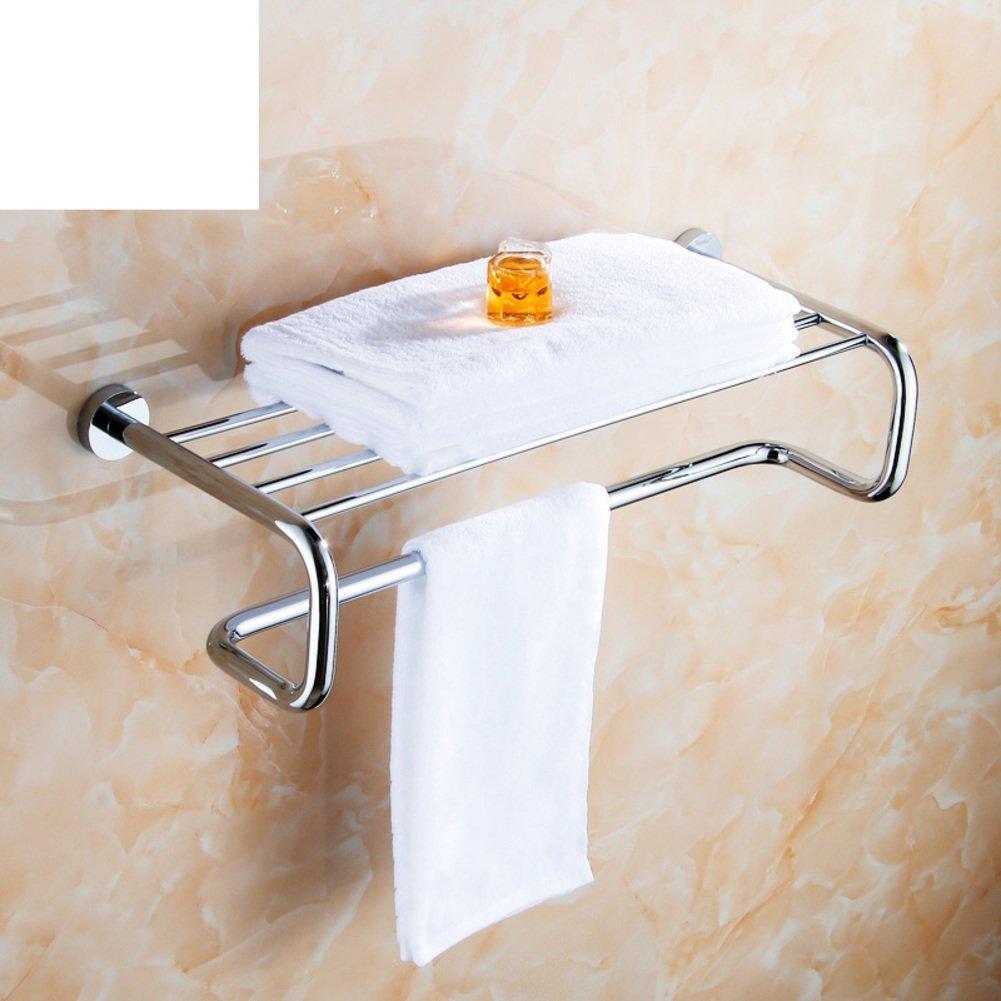 DIDIDD Shelf-Copper Bathroom Hardware Accessories/Double Towel Towel Rack/Hook-Mounted Hanging Corner Rack