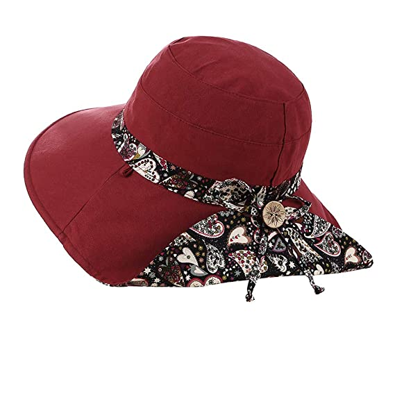 bb591bc0b88 Image Unavailable. Image not available for. Color  Fashion Sun Hat Summer  UV Protection ...
