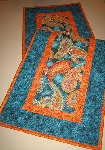 quilted table runner gold - 6