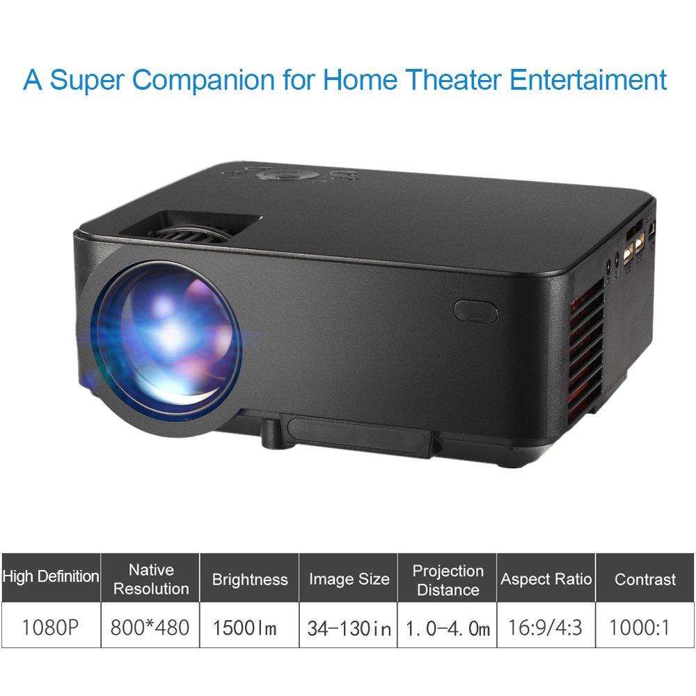 Docooler LED proyector 1500 lumens 1080P Jettent 130