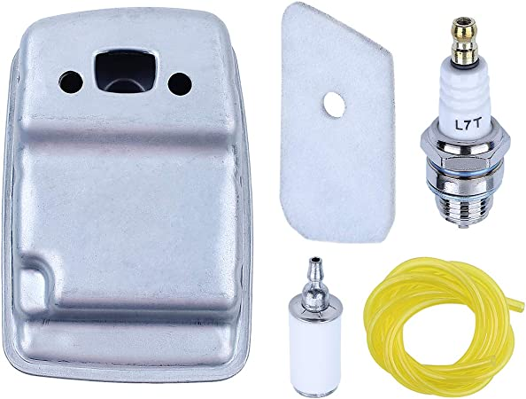 Exhaust Muffler Air Fuel Filter For Husqvarna 124L 125L 128C 128CD 128L 128LD