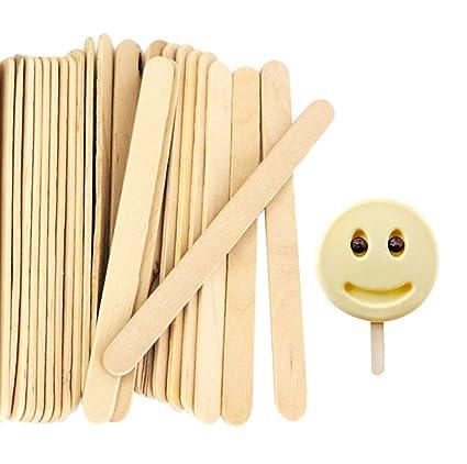 2aa6d85268 Amazon.com: Acerich 200 Pcs Craft Sticks Ice Cream Sticks Wooden Popsicle  Sticks 4-1/2