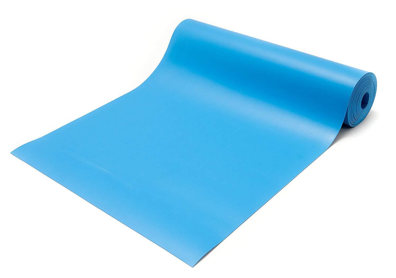 Bertech ESD Three Layer Vinyl Mat Roll, 2.5' Wide x 25' Long x 0.093'' Thick, Blue (Made in USA)