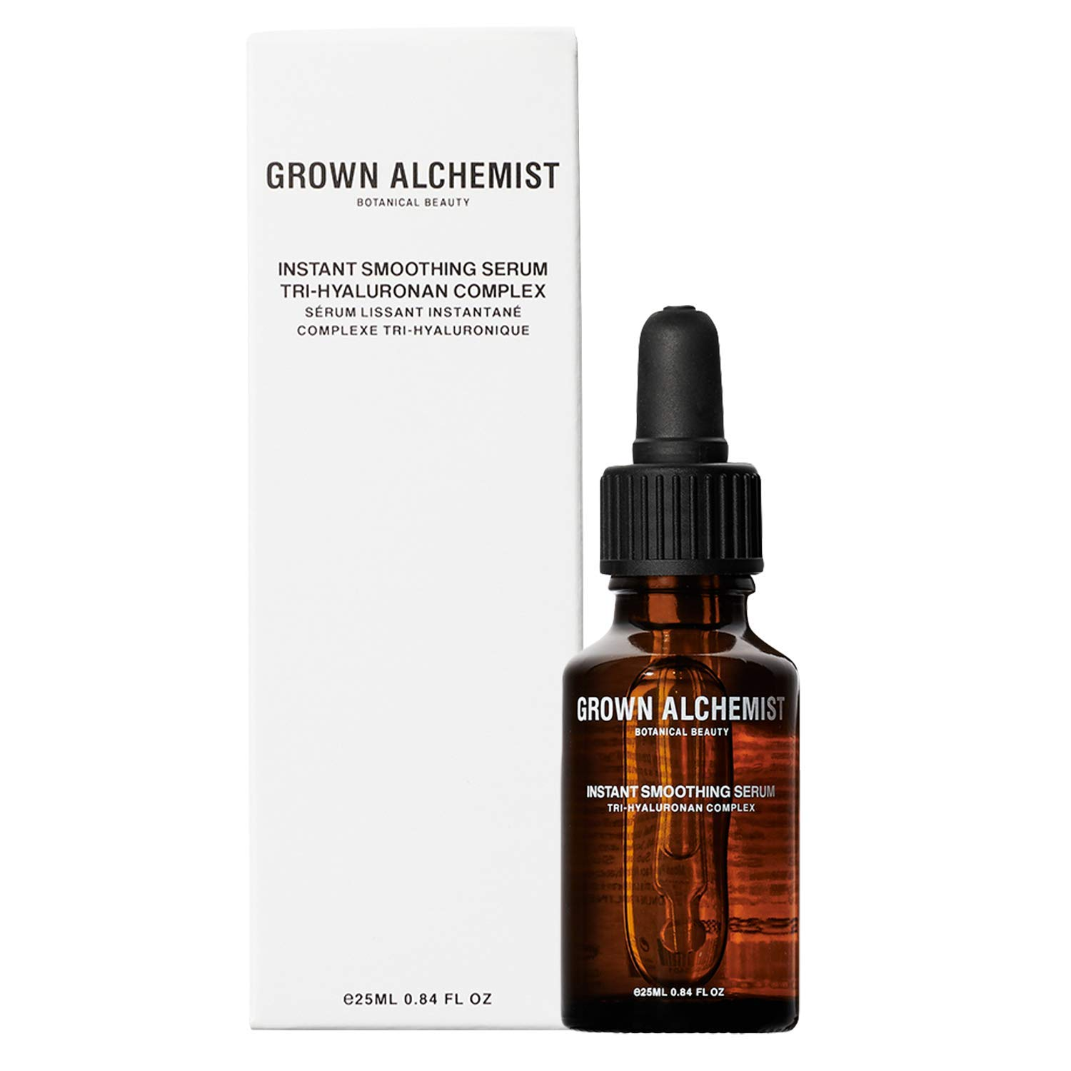 Grown Alchemist Instant Smoothing Serum - Tri-Hyaluronan Complex - Anti Aging Facial Serum Made with Organic Ingredients (25ml / 0.84oz)