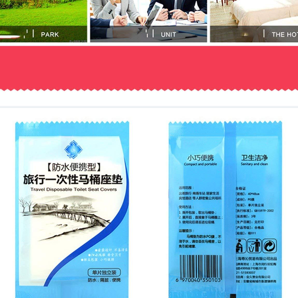 73JohnPol Travel Business Toilet Seat Cover Cuscino monouso Impermeabile per WC tranparent