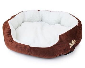 Orchidtent Cuero Precioso Redondo Cama De Mascota Para Gatos y Perros Pequeños: Amazon.es: Productos para mascotas