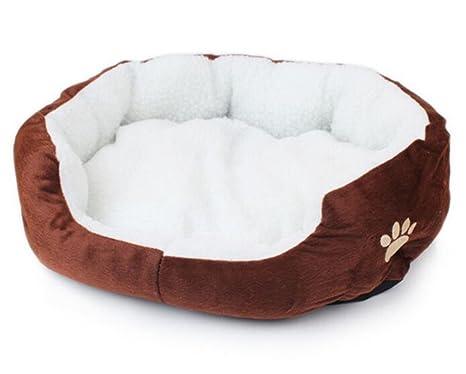 Orchidtent Cuero Precioso Redondo Cama De Mascota Para Gatos y Perros Pequeños. Pasa el ...