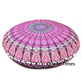 Goood Times Pink Throw Decorative Floor Pillow